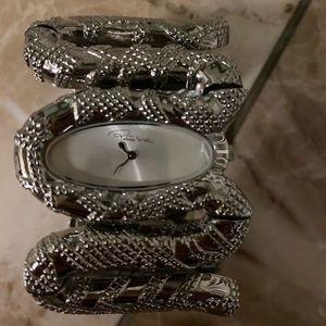 ROBERTO CAVALlI/ Ladies/ Silver / Snake Design